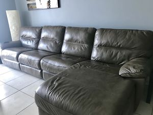Sofa leather, 2 of the seats recline for Sale in Miami, FL