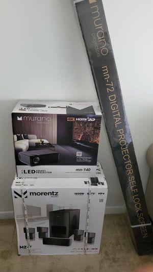 "Muramo Projector / Surround sound /72""Screen Projector NEW $8,500 for Sale in Cutler Bay, FL"