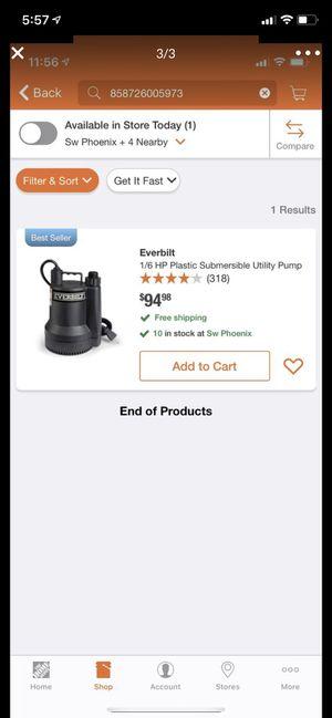 New water Pump for Sale in Glendale, AZ
