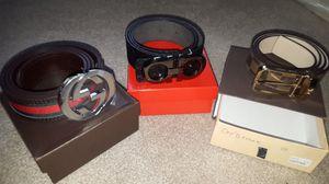 Gucci belt X Ferragamo belt X Louis Vuitton for Sale in Sterling, VA