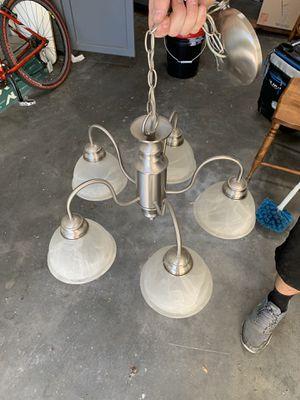 Chandelier silver kitchen light for Sale in Lodi, CA