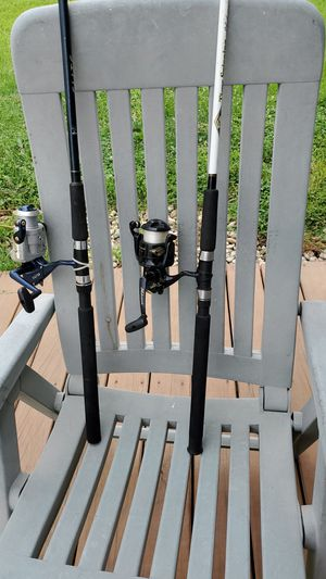 2 large cat fishing rods and reels for Sale in Plainfield, IL