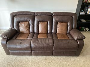 Faux Leather Recliner Couch for Sale in Arlington, VA