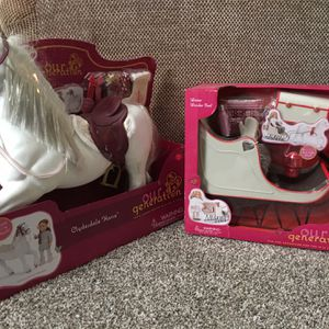 American girl Doll/OG Doll Sled And Clydesdale Horse for Sale in Walnut, CA