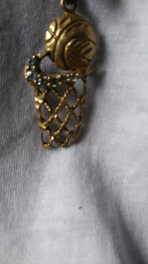 Real 14k yellow gold nike basketball and rim charm for Sale in Detroit, MI