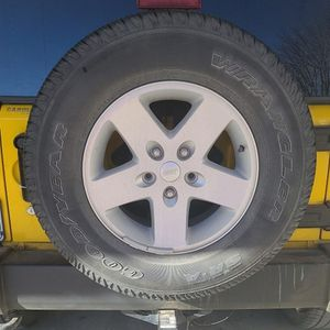 Tire & Wheel Never Used/ Jeep Wrangler for Sale in Longmont, CO