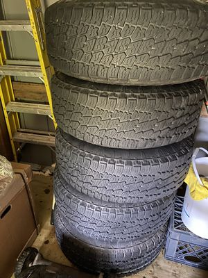 Jeep wrangler unlimited wheels and tires. Set of 5 for Sale in Wheaton, MD