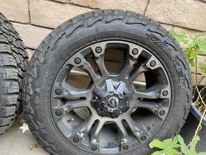 """20"""" Fuel rims + tires for Sale in Montebello, CA"""