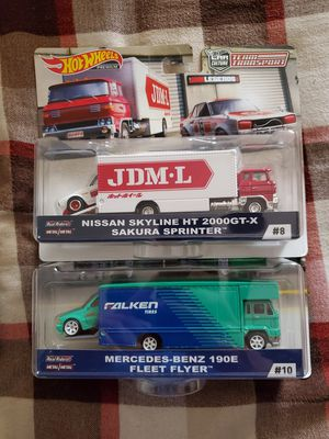 Hot wheels team transporter skyline an Mercedes benz for Sale in Los Angeles, CA