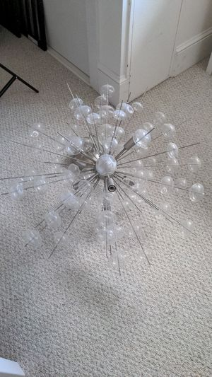 Bubbled Chandelier Solaria - like new for Sale in Cambridge, MA
