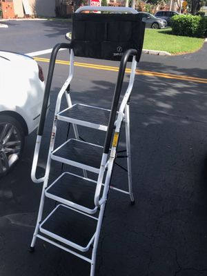 Non-slip 4 Step Ladder Folding Stool w/ Handrails 330Lbs Load Capacity Heavy duty steel construction with 330 lbs load capacity. With padded side han for Sale in Pembroke Pines, FL