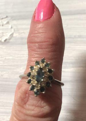 Emerald & Diamond cocktail ring size 6 for Sale in Dallas, TX