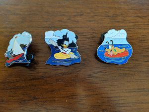 3 different Disney Cruise line pins featuring Pluto, Donald Duck and Stitch for Sale in Glendale, AZ