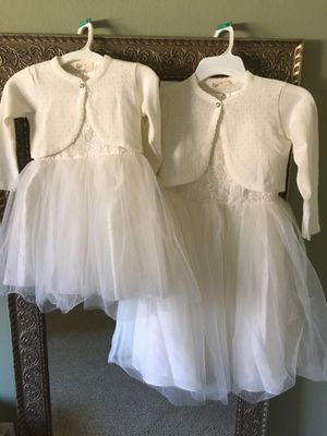 Flower Girl or Communion Dresses, 4T & 10, w Sweaters & Shoes, 10 & 4 for Sale in Fullerton, CA