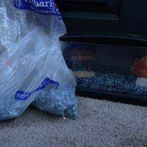 Small Fish Tank and gravel for Sale in Temecula, CA