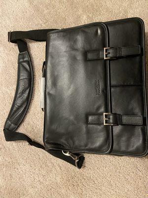 Kenneth Cole Reaction Full-Grain Colombian Leather Laptop Black Bag- Brand New for Sale in Prince Frederick, MD