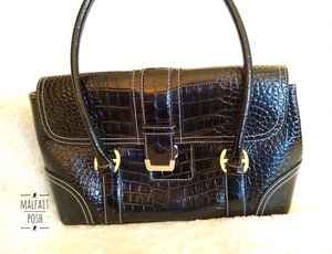 Liz Claiborne Black Faux Croc Bag for Sale in Alexandria, VA