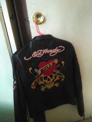 Ed hardy leather jacket for Sale in Boston, MA