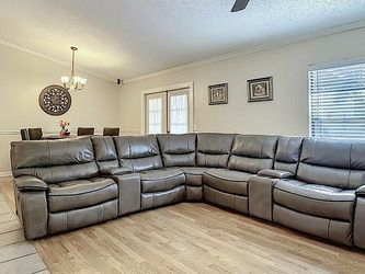 Leather Couch With Electric Recliners for Sale in Tampa,  FL