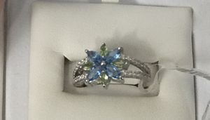 Beautiful topaz and peridot flower ring for Sale in Payson, AZ