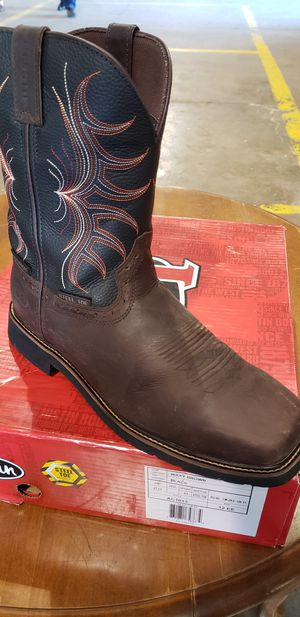 Justin steel toe work boots for Sale in Houston, TX