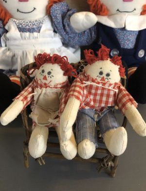 Mini Vintage Raggedy Ann and Andy for Sale in Spokane, WA