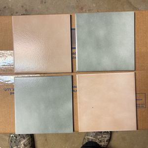 "24–6""x6"" and 7–8""x8 "" Ceramic Tiles (10 Light Green and 14 Cream Small Tiles and 7 Tan Large Tiles) for Sale in Vienna, VA"