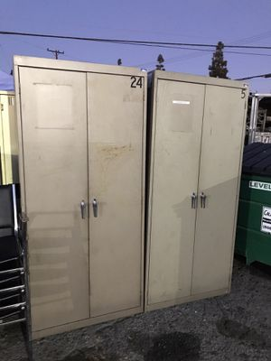 Two doors storage cabinets with 4 shelves $125 each for Sale in Downey, CA