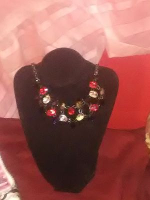 Multi colored gemstone choker necklace for Sale in Wichita, KS