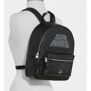 STAR WARS X COACH BLACK MOTIF MEDIUM CHARLIE BACKPACK F88015 $428 NEW for Sale in Imperial Beach, CA