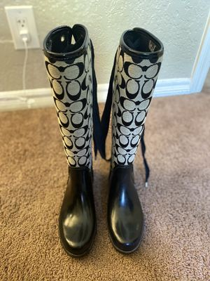Coach rain boots for Sale in Oceanside, CA