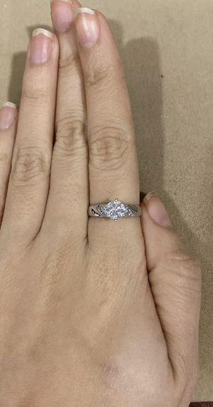 14K White Gold Women's White Stones Anniversary Engagement Wedding Ring for Sale in Commerce, CA