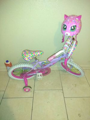 "Shopkins Bike with helmet 16"" for Sale in Jacksonville, FL"