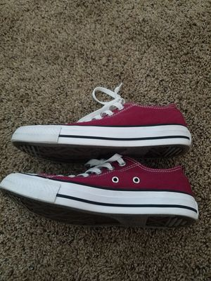 Burgundy converse size 7 womens for Sale in San Diego, CA