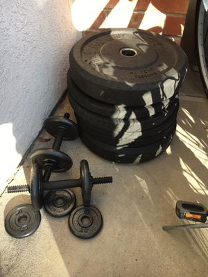 Rogue Weight Plates and Olympic 45lb Weight Bar for Sale in Santa Ana, CA