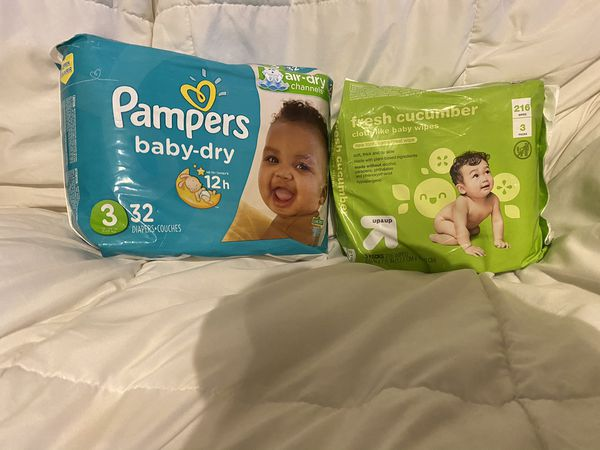 Pampers & wipes