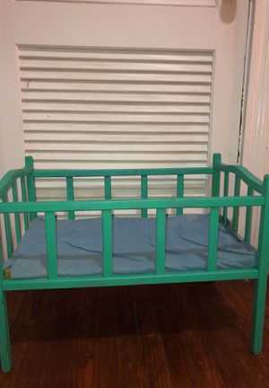 Vintage Doll crib with cloth padding for Sale in Mount Vernon, OH