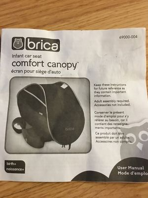 Brica infant car seat canopy for Sale in Pittsburgh, PA