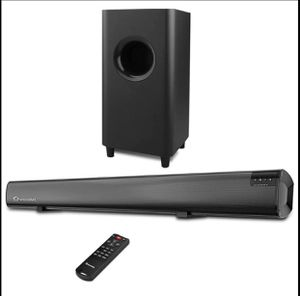 Sound Bar,Wohome 2.1 channel 120W TV Soundbar,5.5-inch Subwoofer,34 inch wired & Wireless 5.0 Blueto for Sale in Staten Island, NY