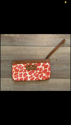 Kate spade orange and pink Leopard wristlet gently used for Sale in Canal Winchester, OH