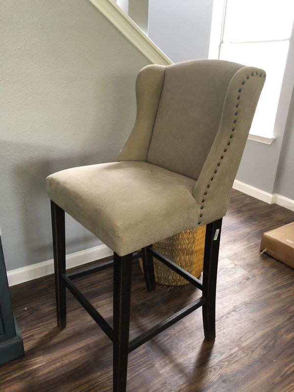 Set Of 2 Ashley Furniture Bar Stool Chairs Tall For