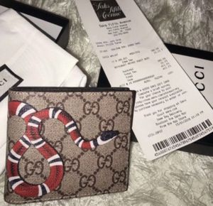 Mens Gucci Wallet Monogram Supreme Snake Authentic for Sale in Nutley, NJ