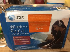 ATT WIRELESS ROUTER NEEDS 7.volt and plug for Sale in Baton Rouge, LA
