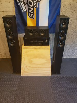 JBL Tower and Center Denon 1913 Receiver for Sale in Troy, IL