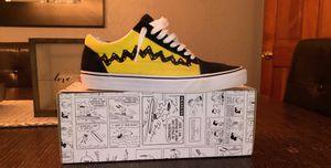 Vans Old Skool Peanuts Charlie Brown Size 10.5 for Sale in Pleasant Lake, MI