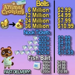 Nintendo Switch Animal Crossing Items Bells And NMT for Sale in Phoenix, AZ