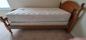 Twin bed: frame and mattress for Sale in Riverdale, GA
