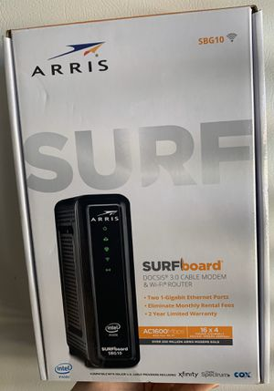 ARRIS SBG10 DOCSIS 3.0 CABLE MODEM & WI-FI ROUTER (Sealed Box) for Sale in Medley, FL
