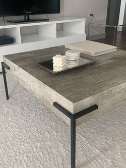 Square Coffee Table In Light Grey And Black for Sale in Orem,  UT