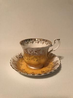Antique Royal Albert Bone China England Yellow Tea Cup & Saucer #4396 for Sale in Surprise, AZ